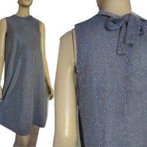 New RAN DESIGNS Sparkly Ice Gray Maternity Dress
